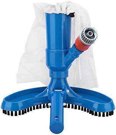 KKmoon Poolreinigung Bodensauger, Vakuumsauger Bodensaugbürste Poolreiniger mit Bürstenbeutel Schlauchadapter Reinigungswerkzeug für den Whirlpool des Poolteichs