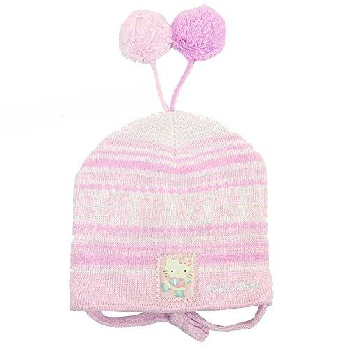 Hello Kitty Girl's Pink Fleece Winter Hat & Mitten 2-pc Sz. 2T-4T ()