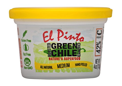 - El Pinto Medium Roasted Green Chile Chopped (4 Ounce, 6 Pack)