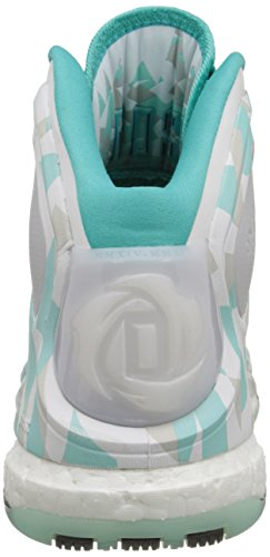 Adidas Performance Mens D Rose 5 Spinta Scarpa Da Basket Bianco / Grigio / Blu
