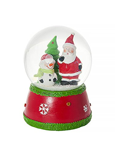 (Mousehouse Gifts Musical Jingle Bells Father Christmas and Snowman Snow Globe Water Ball Decoration and Gift )
