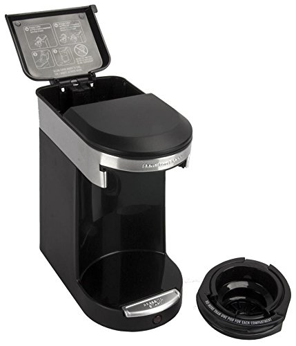 photo Wallpaper of Hamilton Beach-Hamilton Beach 12 Ounce One Touch Personal Cup Pod Coffee Brewer, Black-Black