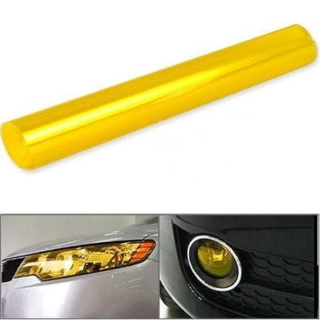 THG 47 cubierta de la pel¨ ª cula x11.8 30x120cm personalizada DIY protectora Vinilo Overlay protector para luces delanteras del coche Luz trasera antiniebla (Naranja)