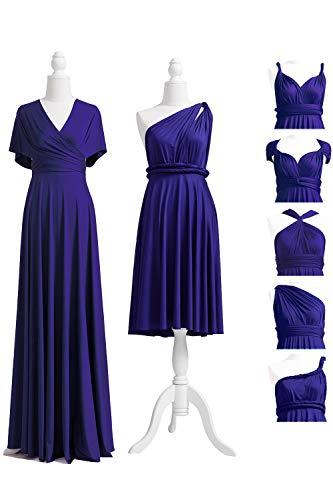 72STYLES Midnight Blue Infinity Dress with Bandeau, Convertible Dress, Bridesmaid Dress, Long,Short, Plus Size, Multi-Way Dress, Twist Wrap Dress