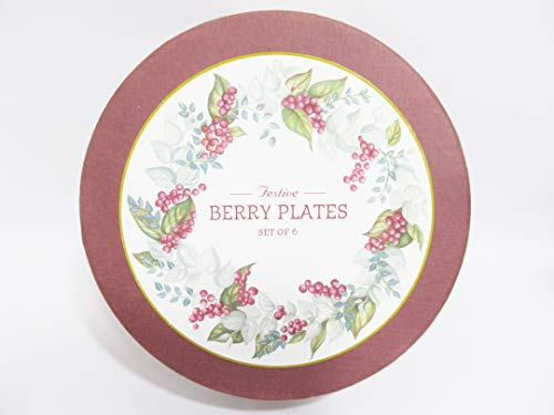 (Restoration Hardware Set of 6 Boxed Salad Dessert Plates - FESTIVE)