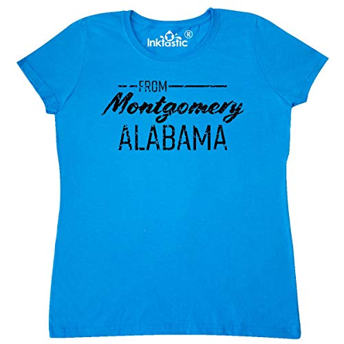 inktastic from Montgomery Alabama in Distressed Women's T-Shirt Small Sapphire
