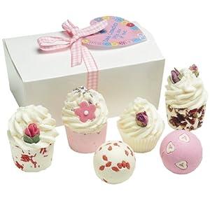 COSMÉTICA BOMBA Ballotin cajita de amor, regalo para el baño (6 productos)