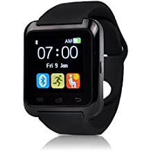 Efanr® U80 Bluetooth Smart Watch Phone Mate Bracelet Wristband Activity Sport Exercise Fitness Sleep Tracker Pedometer with Camera Touch Screen for Android IOS Samsung iPhone Smartphone -Black
