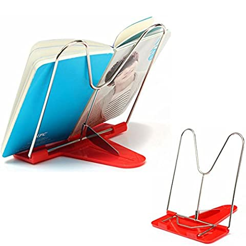 wiwanshop Adjustable Foldable Reading Book Stand Document Holder ( Green ) - Swag Holder Finish