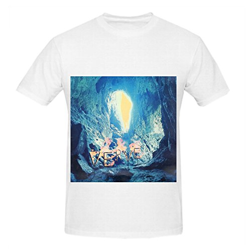 The Verve A Storm In Heaven Pop Album Cover Men Crew Neck Short Sleeve Shirts White