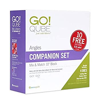 Image of Accuquilt GO! Qube 10' Companion Set-Angles Quilting