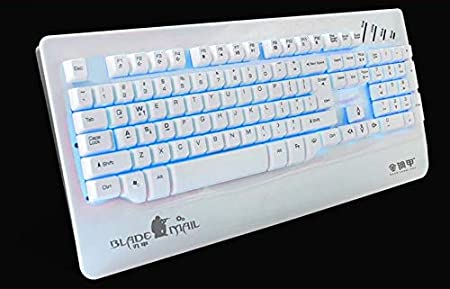 Tjtz Illuminated Gaming Keyboard Wired Laptop USB Mechanical Feel Keyboard Professional Gaming Keyboard