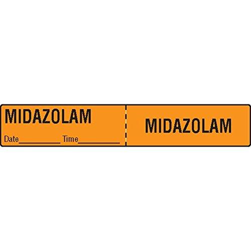 Tubing Iv Medication Labels (IV Tubing Medication Label Midazolam)