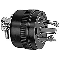 Hubbell Wiring Systems PH6625 Locking Type Plug for Telephone Cable Set, Black