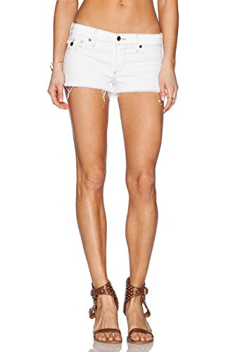 (True Religion Women's Joey Cutoff Shorts, Optic White, 31)