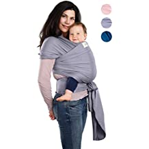 BabyWaybe Wrap Sling Carrier for Infants and Newborn - Perfect Shower Gift - Breathable Soft Stretchy Carrier - Safe and Easy to Use - 4-in-1: Soft Carrier, Baby Sling, Postpartum Belt, Nursing Cover