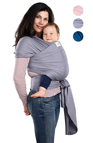 Bee Swaddle Have (BabyWaybe Wrap Sling Carrier for Infants and Newborn - Perfect Shower Gift - Breathable Soft Stretchy Carrier - Safe and Easy to Use - 4-in-1: Soft Carrier, Baby Sling, Postpartum Belt, Nursing Cover)