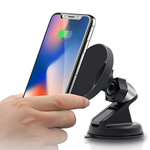 Wireless Car Charger,Fast QI Gravity Magnetic Charge Car Mount Air Vent Phone Holder Compatible with iPhone Xs/Xs Max/XR/X / 8/8 Plus,Samsung Galaxy Note 9 / S9 / S9+ / S8 / S7 and More (Black)