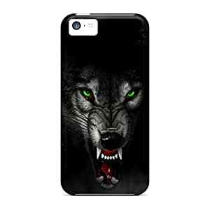 Hot Jpu9412YoTm Angry Wolf Tpu Case Cover Compatible With Iphone 5c