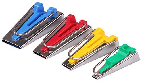 Topways® Schrägbandformer Stoff Schrägband Maker Tape Maker 4er-Set in 6mm, 12mm, 18mm, 25mm