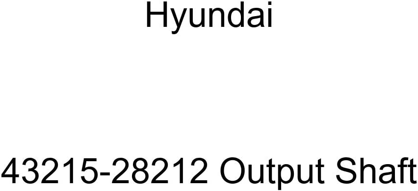 Genuine Hyundai 43215-28212 Output Shaft