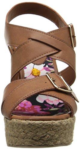 887865340119 - Madden Girl Women's Stackful Wedge Sandal, Cognac Paris, 7 M US carousel main 3