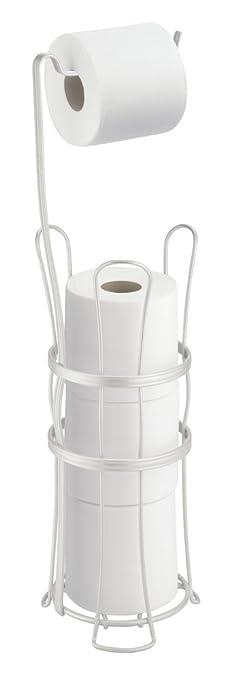MDesign Toilettenpapierhalter Ohne Bohren   Freistehender Klorollenhalter  Fürs Badezimmer   Farbe: Chrom   Mobiler Papierrollenhalter Für Ihr  Badezimmer ...