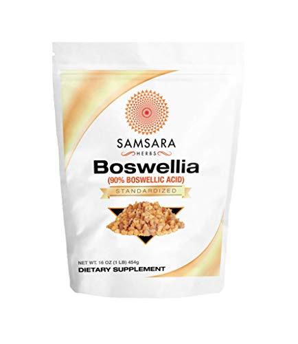 Samsara Herbs Boswellia Extract (16oz/454g) 90% Boswellic Acid   Inflammation   Digestion   Respiratory Support