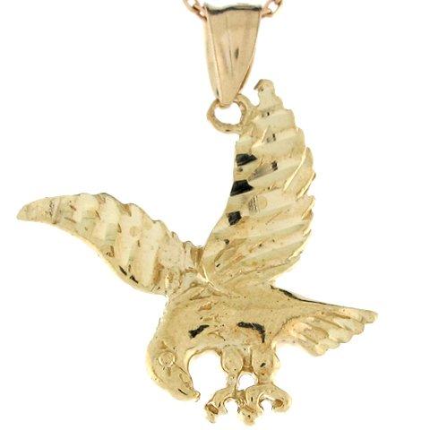 9ct Or Jaune Pendentif Aigle Americain 2.7cm