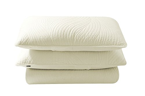 Brielle Stream Quilt and Sham Set, King, Ivory