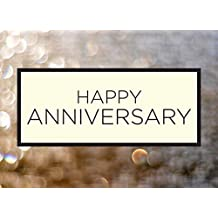 Anniversary Greeting Cards - A1601. Business Greeting Card Featuring an Image of Happy Anniversary on a Bubbly Background. Box Set Has 25 Greeting Cards and 26 Bright White Envelopes.