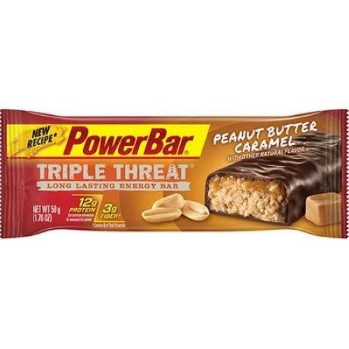 PowerBar Triple Threat Peanut Butter Caramel Energy Bar, 1.76 Ounce -- 120 per case.