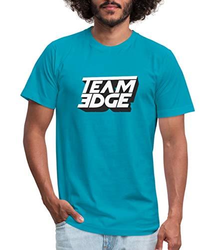 Edge T-shirt Logo - Spreadshirt Team Edge Logo Men's Jersey T-Shirt, S, Turquoise