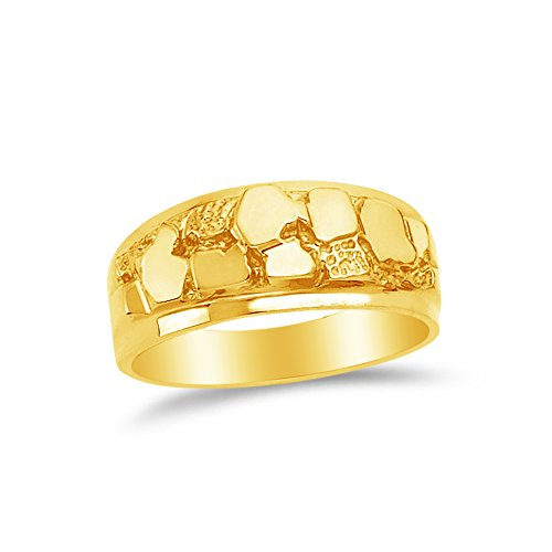 - Size - 6.5 - 14k Yellow Gold Nugget Ring