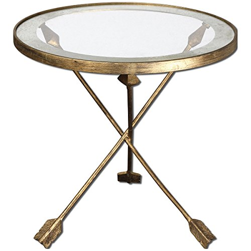 Uttermost 24275 Aero Glass Top Accent Table - Uttermost Traditional End Table