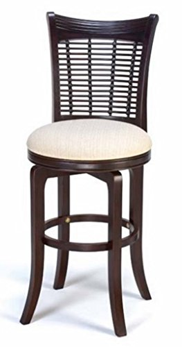 Hillsdale Bayberry Swivel Barstool, Dark Cherry Bamboo Swivel Bar Stool