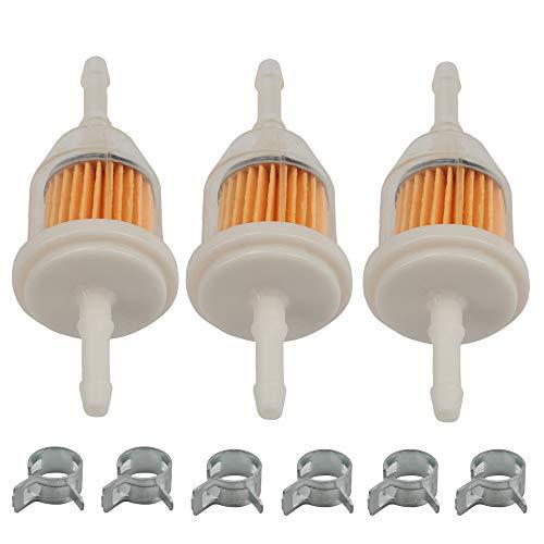Butom (Pack of 3 Fuel Filter for Kohler 25 050 22-S John Deere AM116304 GY20709 Exmark 109585 Bobcat 38666 Universal 120436 Gravely 21541500 Toro 98021