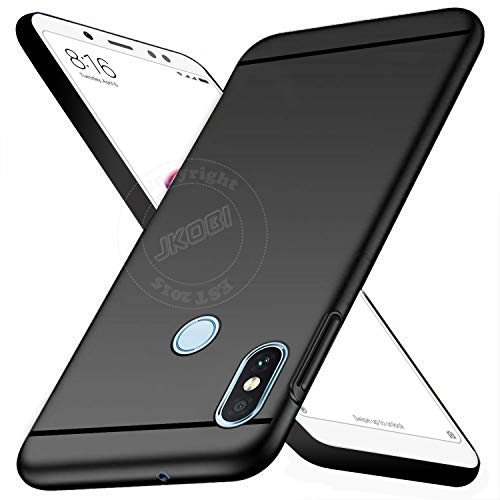 Jkobi Matte Ultra Protection Rubberised Back Case Cover for Xiaomi Mi Redmi Note 5 Pro  Black
