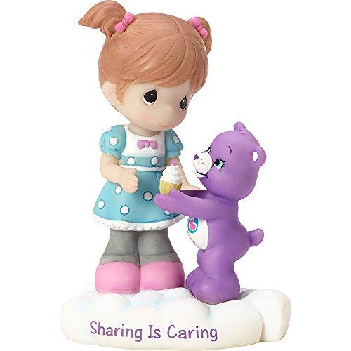 Girl Bear Figurine - Precious Moments Company 163414 Precious Moments, Care Bears, Sharing Is Caring, Resin Figurine, 163414,Multi