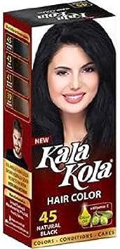 Kala Kola Tinte de pelo natural negro 45 con aceite de oliva + Vitaman E x 2 botellas