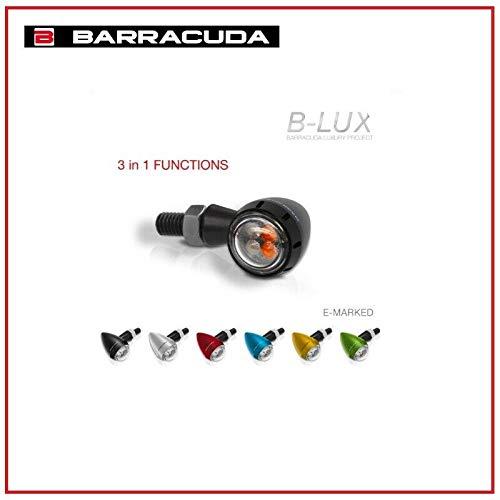 COPPIA FRECCE S-LED B-LUX BARRACUDA MOTO COLORE NERO