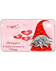 TOPFLY 2021 Happy Valentine's Day Gnome Decorative Doormats for Indoor Outdoor Entrance,Bathroom Doormat Non Slip Welcome Mats for Home Decoration,23.6 x 15.7 Inch (Multicolor-E)