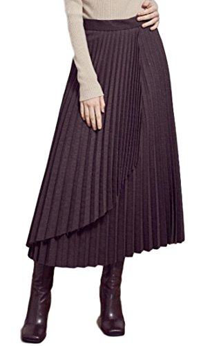 URAGO Women's Wool Pleats Long Skirt S by URAGO