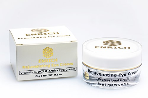 Best Premium Rejuvenating Anti-Aging Eye Cream with Hyaluronic Acid, Vitamin K, DCX and Arnica for correcting dark circles, puffiness, bags & wrinkles. Eye treatment for Women and Men Review