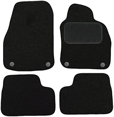 Carsio Tailored Black Carpet Car Mats for Astra H 2004 to 2010-4 Piece Set With 4 Clips