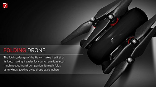 41bCdgkMXxL Hawk4k Folding Drone With 4k Camera and Watch Controller