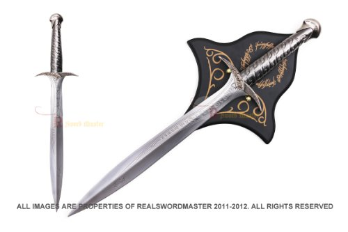 "Lord of The Rings LOTR 22"" Steel Frodo Hobbit Sting Sword w/ Plaque"