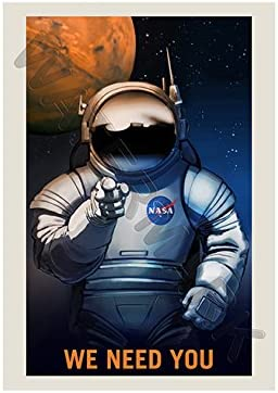 NASA POSTER SPACE EXPLORATION JOB ADVERT WE NEED YOU 24 x 38.4 /'/' LARGE LLF0864