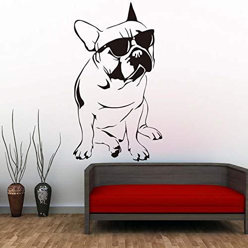 Hermoso Bulldog Francés con Gafas de Sol Etiqueta de La Pared ...