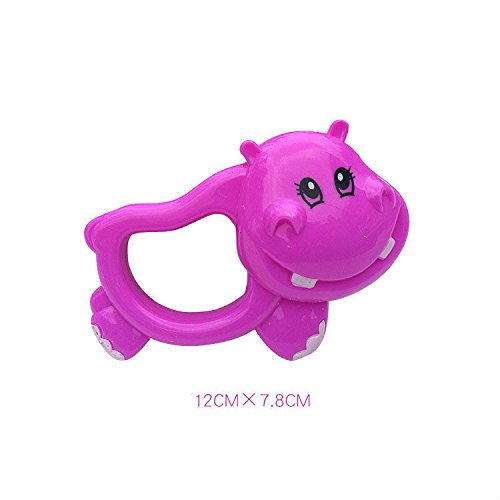 Polymer Cute Bell Cartoon Baby Teether Toy Sonajero Juguete Educativo (hipopótamo)